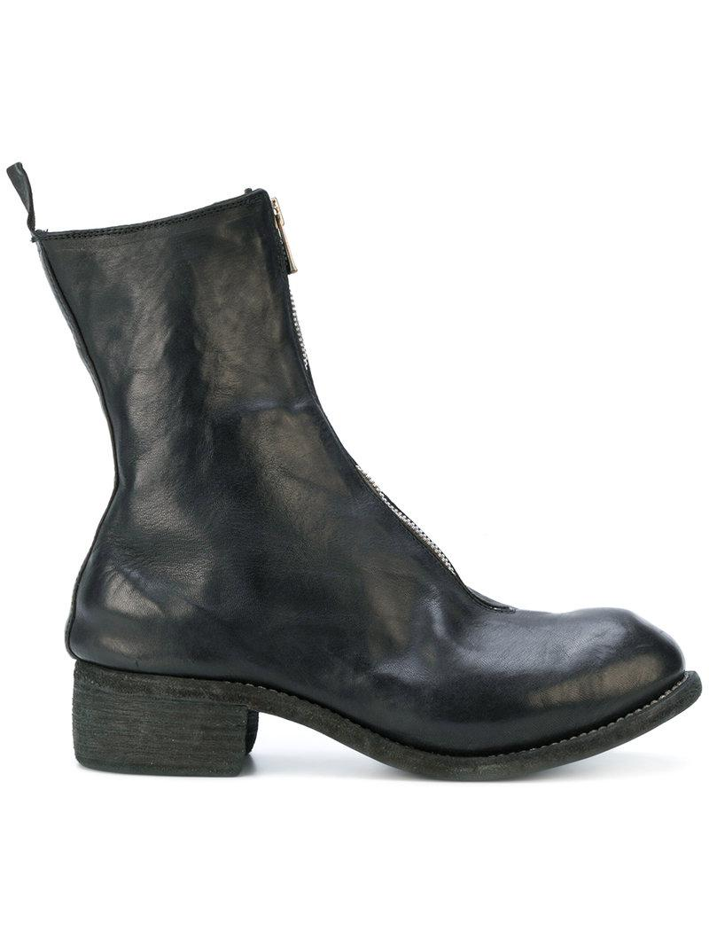 strappy ankle boots - Black Guidi Outlet Discounts qTw7olc6