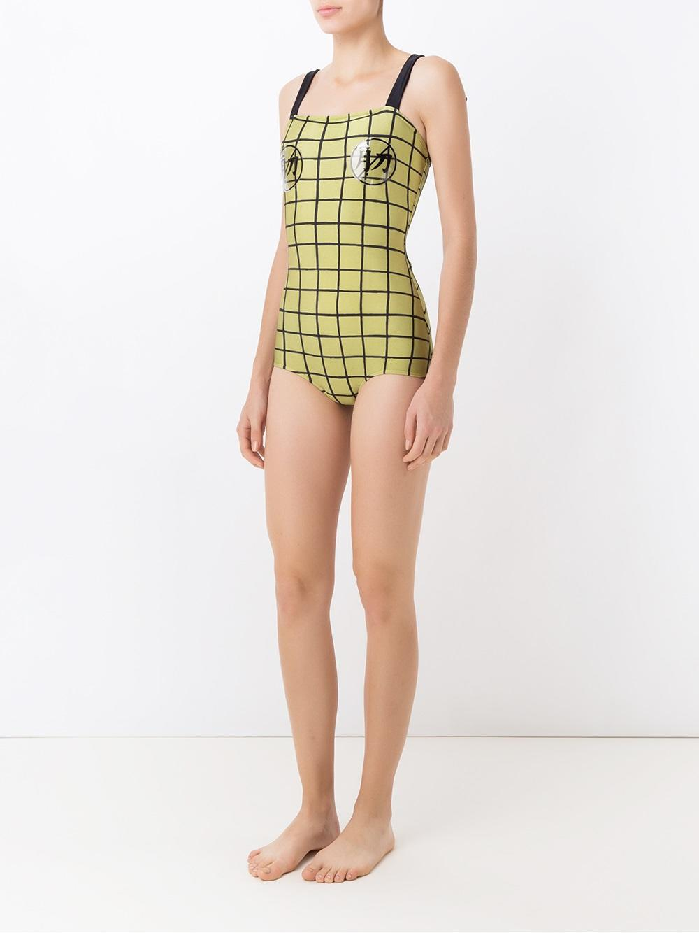8986df398f Lyst - Adriana Degreas Grid Swimsuit in Green