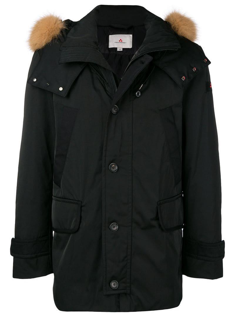 buy online 73c7a 055fc Men's Black Hooded Down Jacket