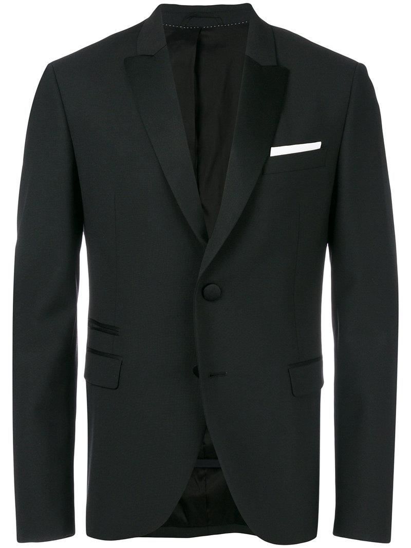 Lyst neil barrett tuxedo blazer in black for men for Neil barrett tuxedo shirt