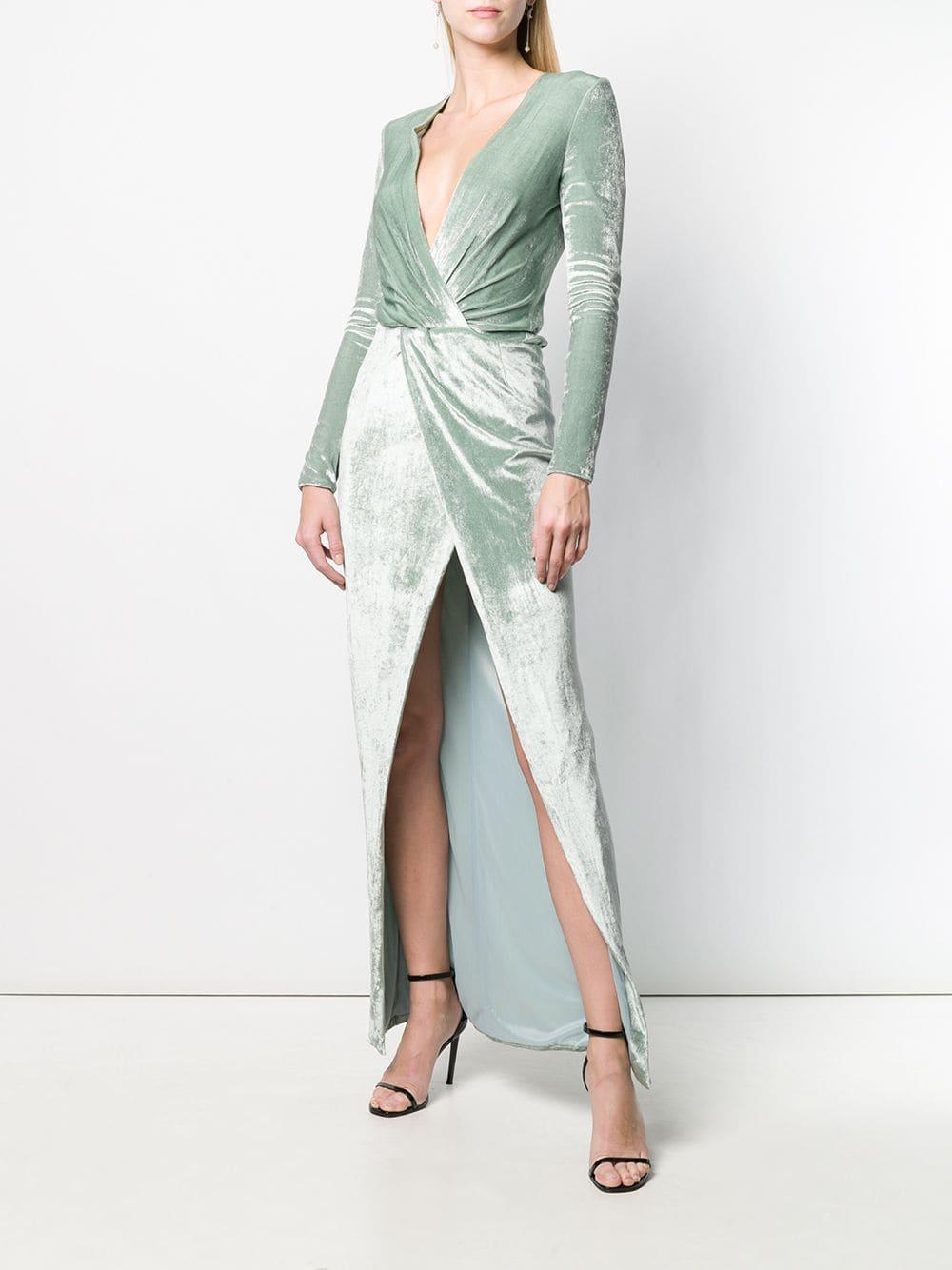 f59eb0f4a320 Galvan London Vera Velvet Dress in Green - Lyst
