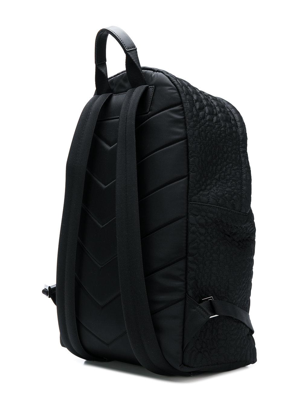 81013b56a8 Versace - Black Quilted Medusa Backpack for Men - Lyst. View fullscreen