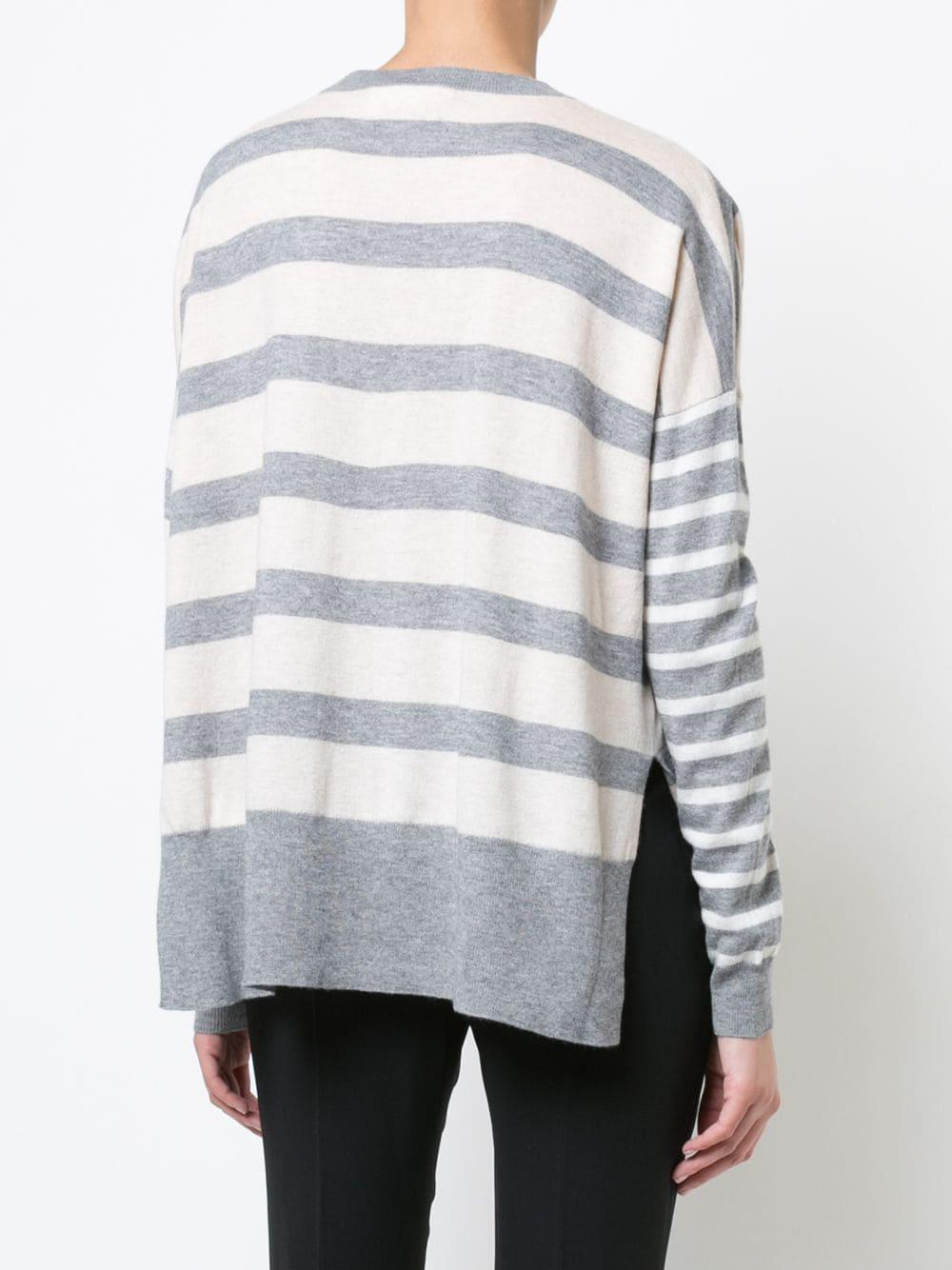 View 10 Striped Derek Neck Lyst Lam V Crosby Fullscreen Multicolor Sweater  zIzwnrAB5 beb470d5d95