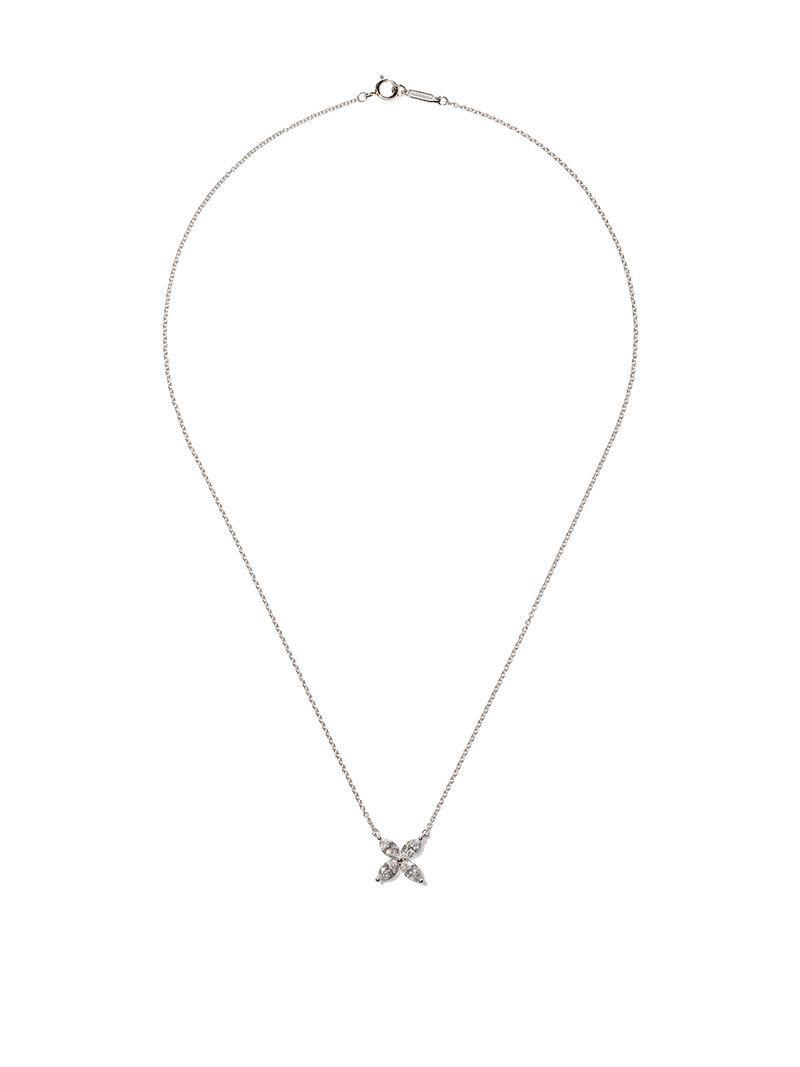 18kt rose gold Tiffany Victoria Key diamond medium pendant - Metallic Tiffany & Co. U4XKC7