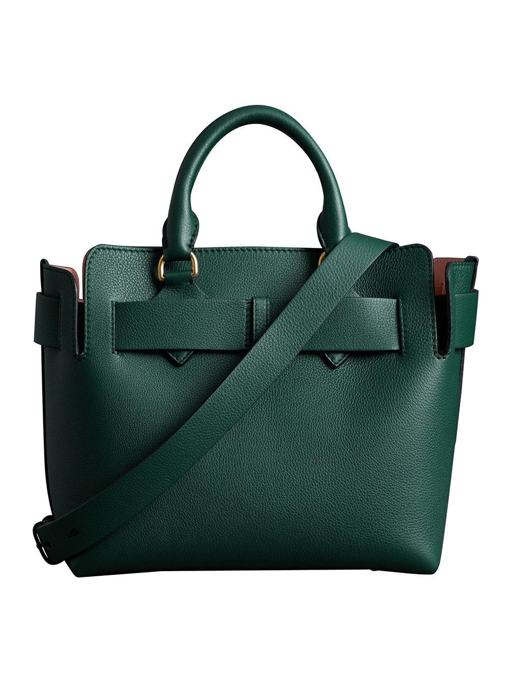 fc4449ece1fc Lyst - Burberry The Small Leather Belt Bag in Green