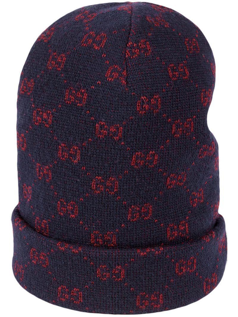 7c9d3572475 Gucci GG Alpaca Wool Hat in Blue for Men - Lyst
