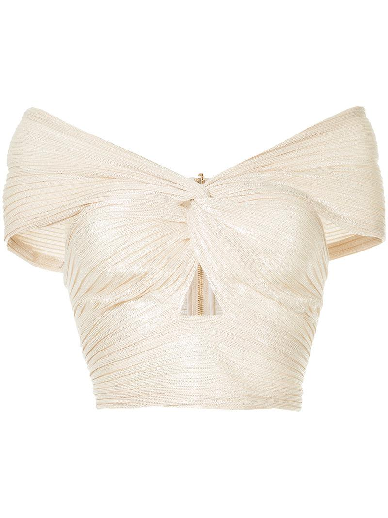 831087af319 Lyst - Alice McCALL Le Girl Cropped Top in Metallic