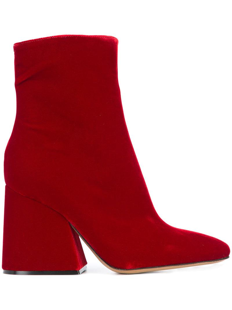 brand new 94e78 c72d1 maison-martin-margiela-red-Flared-Ankle-Boots.jpeg