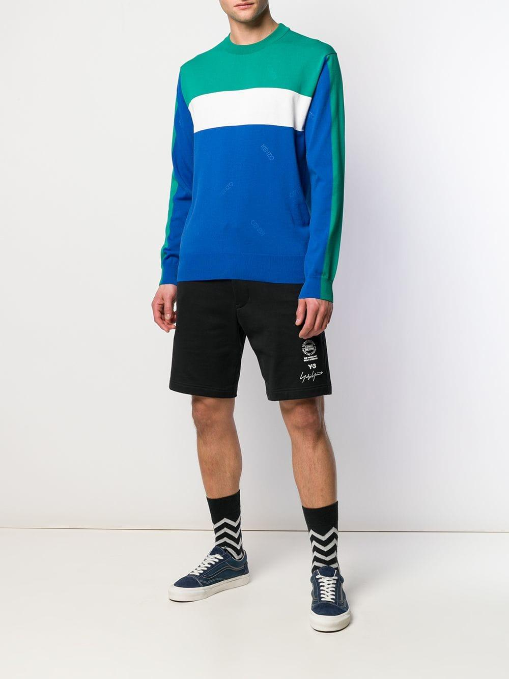 4d5443335ca6c Lyst - KENZO Colour Block Jumper in Blue for Men