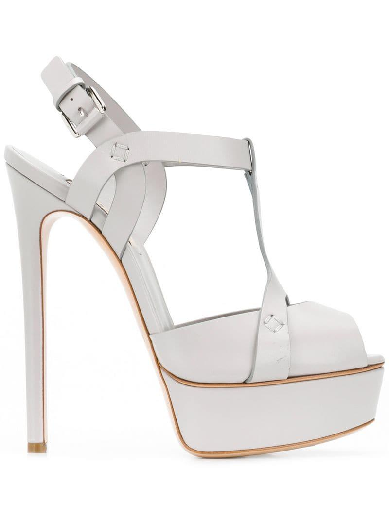 01f72a4f25 Lyst - Casadei Flora Sandals in Gray