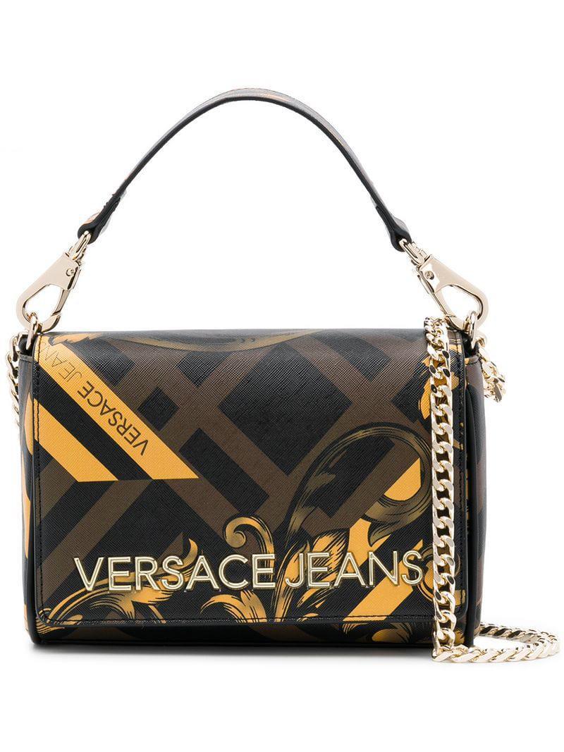 Lyst - Versace Jeans Baroque Print Shoulder Bag in Brown a0ecf39af9b65