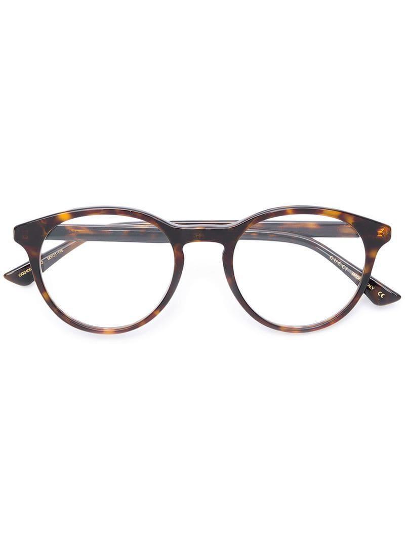5740e92014 Gafas redondas de carey Gucci de hombre de color Marrón - Lyst
