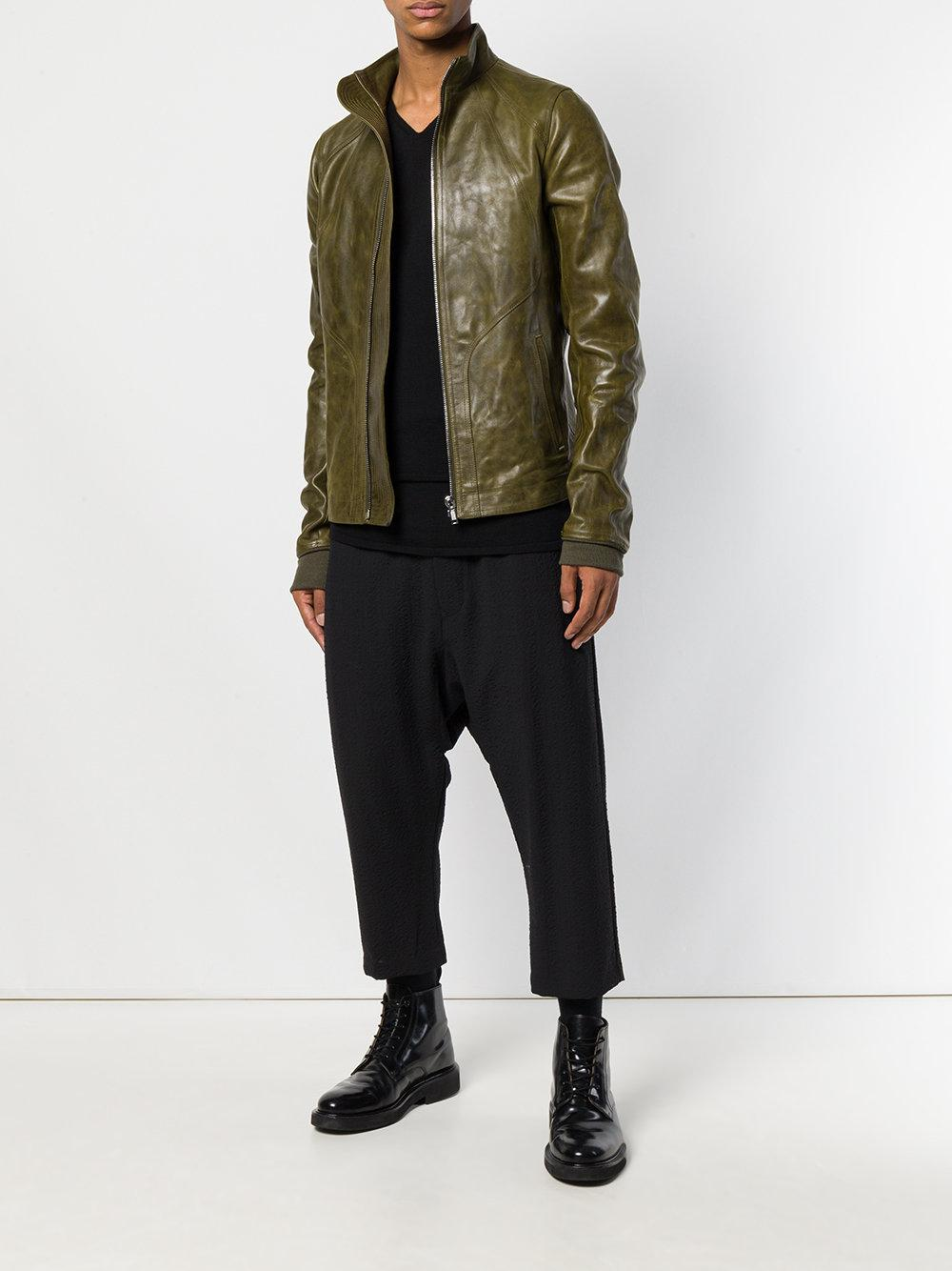 b0ae801289b3 Rick Owens High Neck Jacket in Green for Men - Lyst