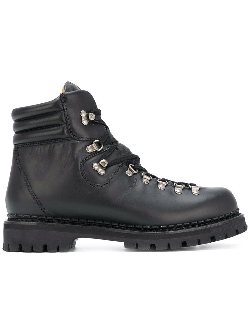 033f6c2cb04 Lyst - Gucci Web Bee Hiking Boots in Black for Men