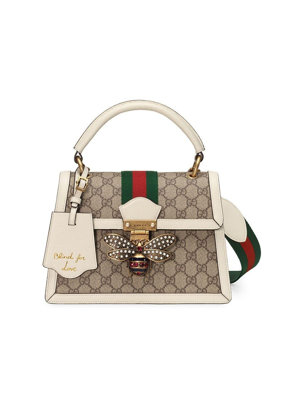 9c51280c7 ... Gucci - Multicolor Queen Margaret Small GG Top Handle Bag - Lyst. Visit  Farfetch. Tap to visit site