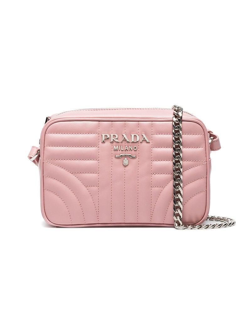 Prada Save Quilted 35 Pink Bag Lyst Diagramme Crossbody In Z5Zrq7Pvw