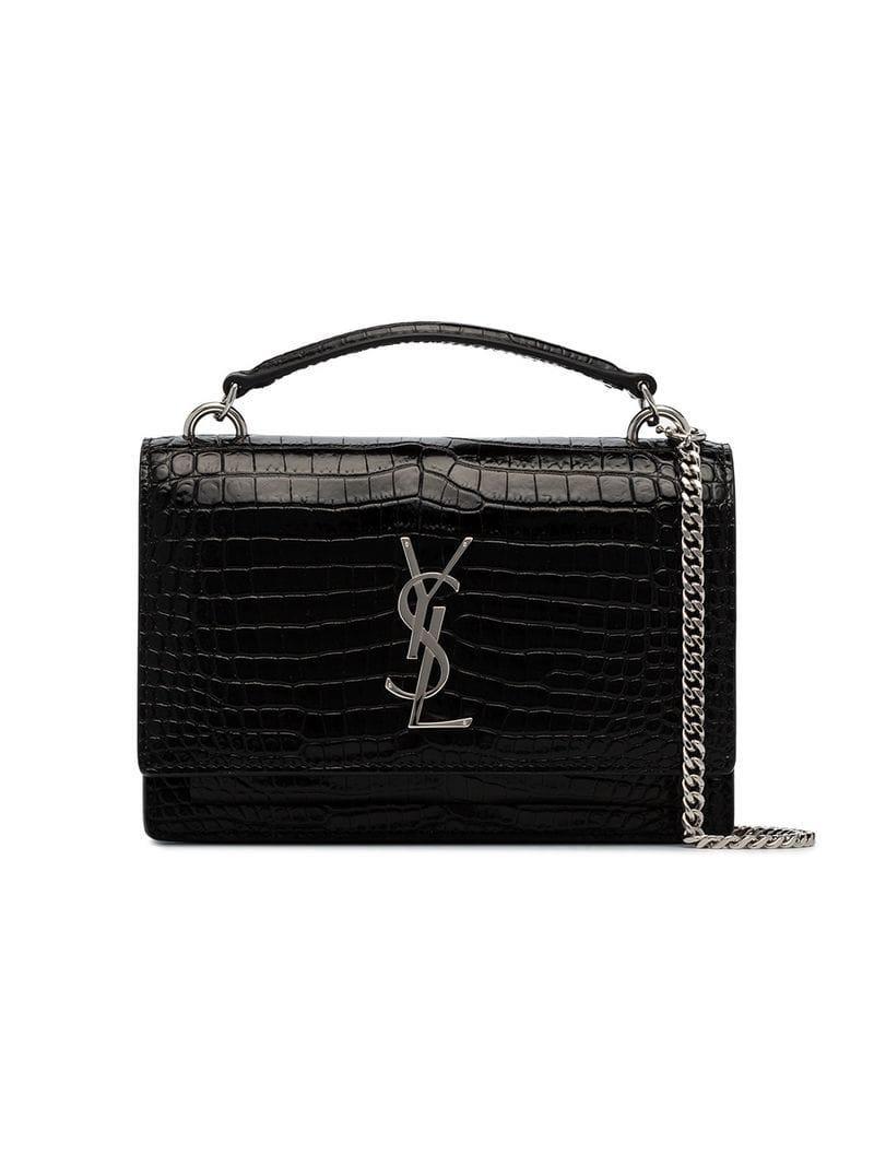 399255ac7db8 Lyst - Saint Laurent Sunset Top Handle Bag in Black - Save ...