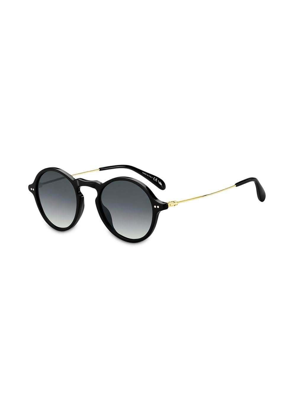 8374918cbfdbe Givenchy Round Frame Sunglasses in Black for Men - Lyst