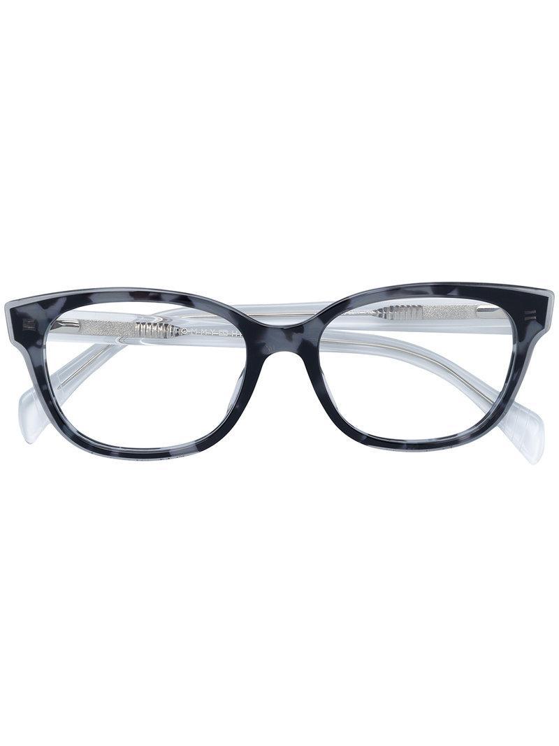 c0fb6bf94d8 Tommy Hilfiger Cat Eye-frame Glasses in Gray - Lyst