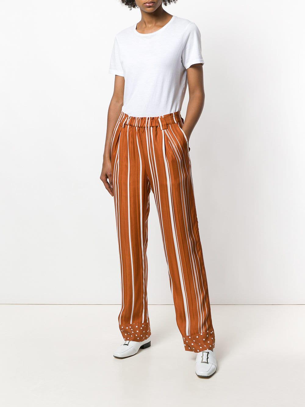 rayas de Lyst Stine puntos impresión naranja pantalones Goya y qRa4aZWTw