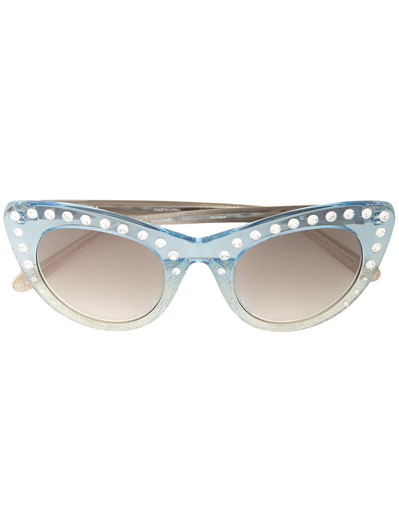 f272113abf3 N°21 X Linda Farrow Cat-eye Sunglasses in Blue - Lyst