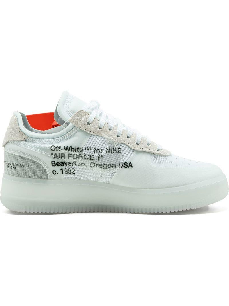 16115ea80f11f9 Lyst - Nike X Off-white Air Force 1 Sneakers in White for Men