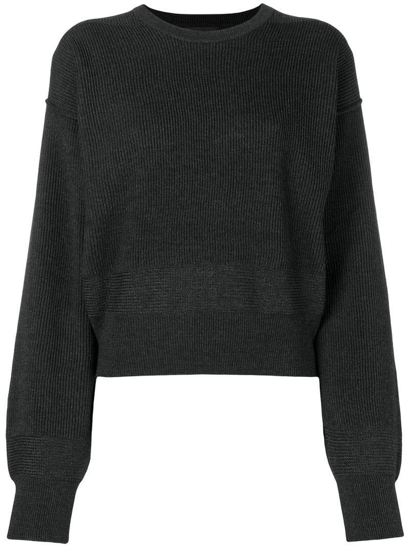 afc3126085 Diesel Black Gold Ribbed Knit Jumper in Gray - Lyst