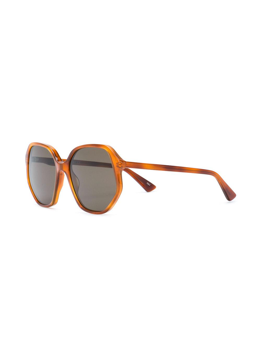 5912415c6fe Gucci Oversized Sunglasses in Brown - Lyst