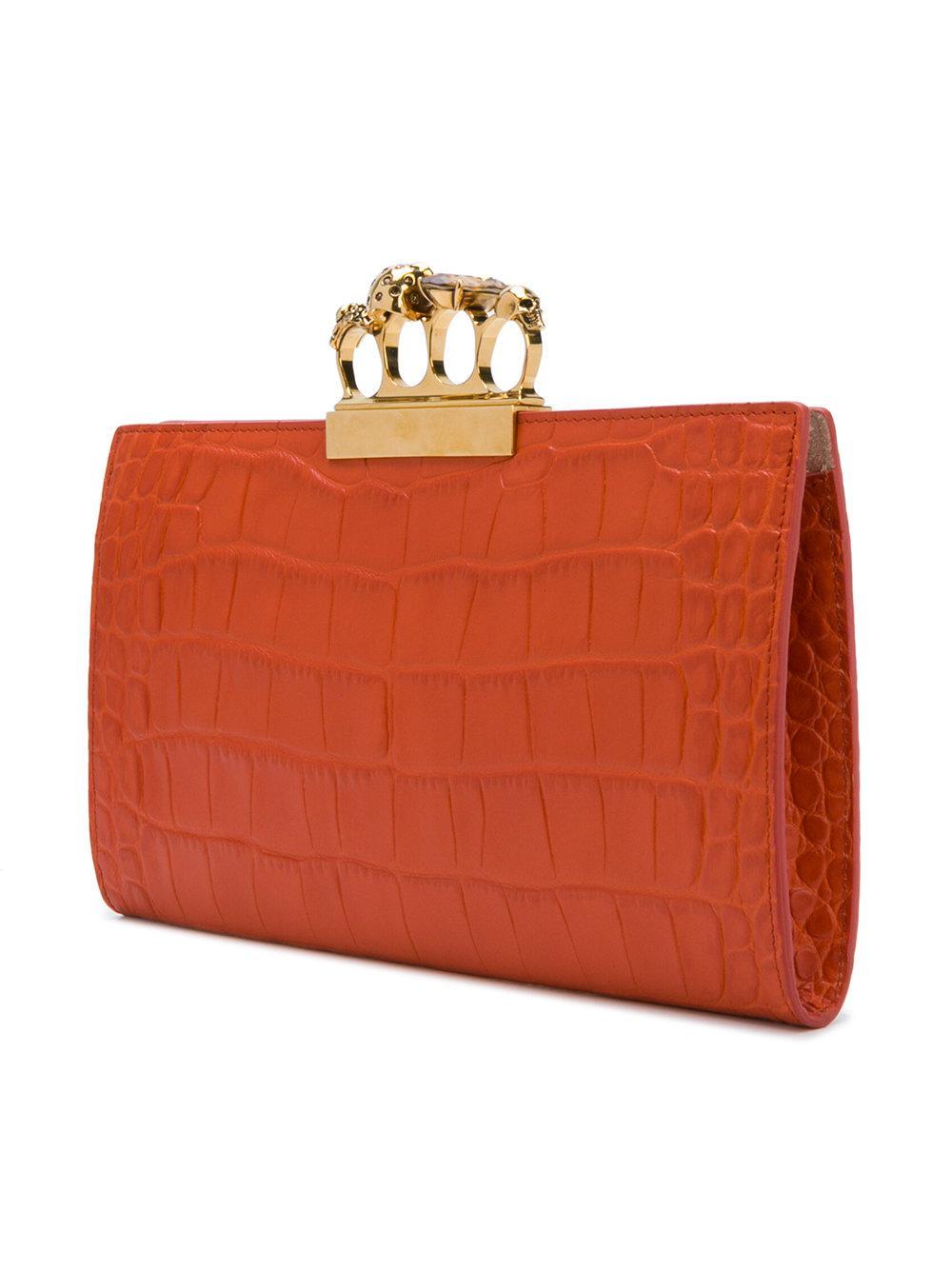 Choice Cheap Online Knuckle Duster clutch bag - Yellow & Orange Alexander McQueen Cheap 2018 Pictures wx2QJjXr