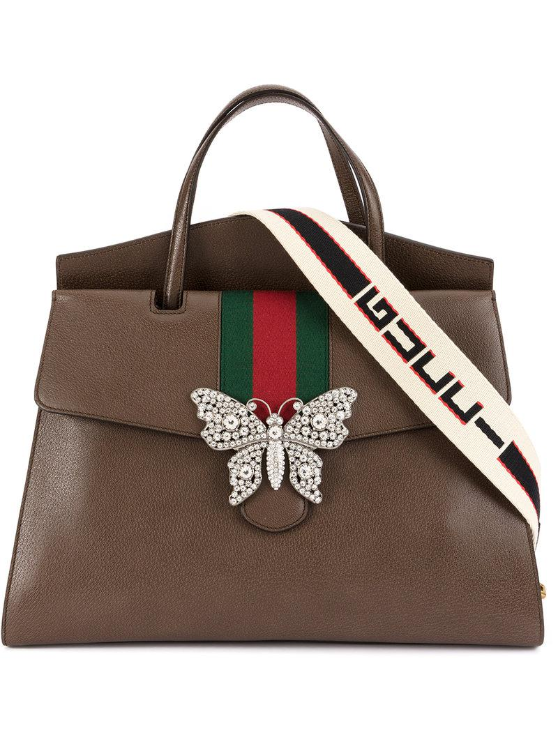 353071cd1f0 Lyst - Gucci Totem Large Top Handle Bag in Brown