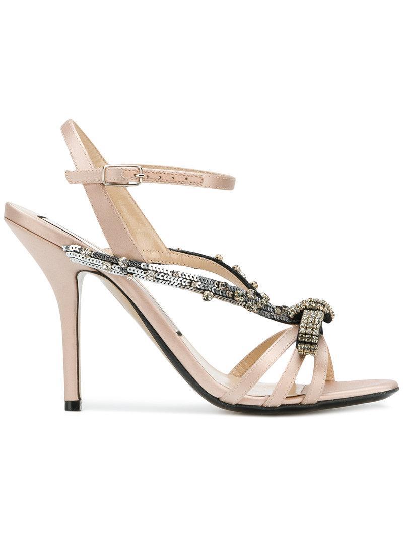 sequin embellished sandals - Nude & Neutrals N��21 5YW5jR