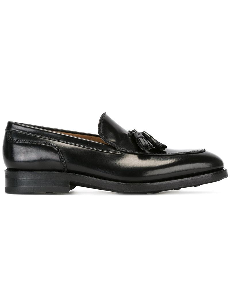 1c8a5b83d64 Ferragamo - Black Fringe-detail Loafers for Men - Lyst. View fullscreen