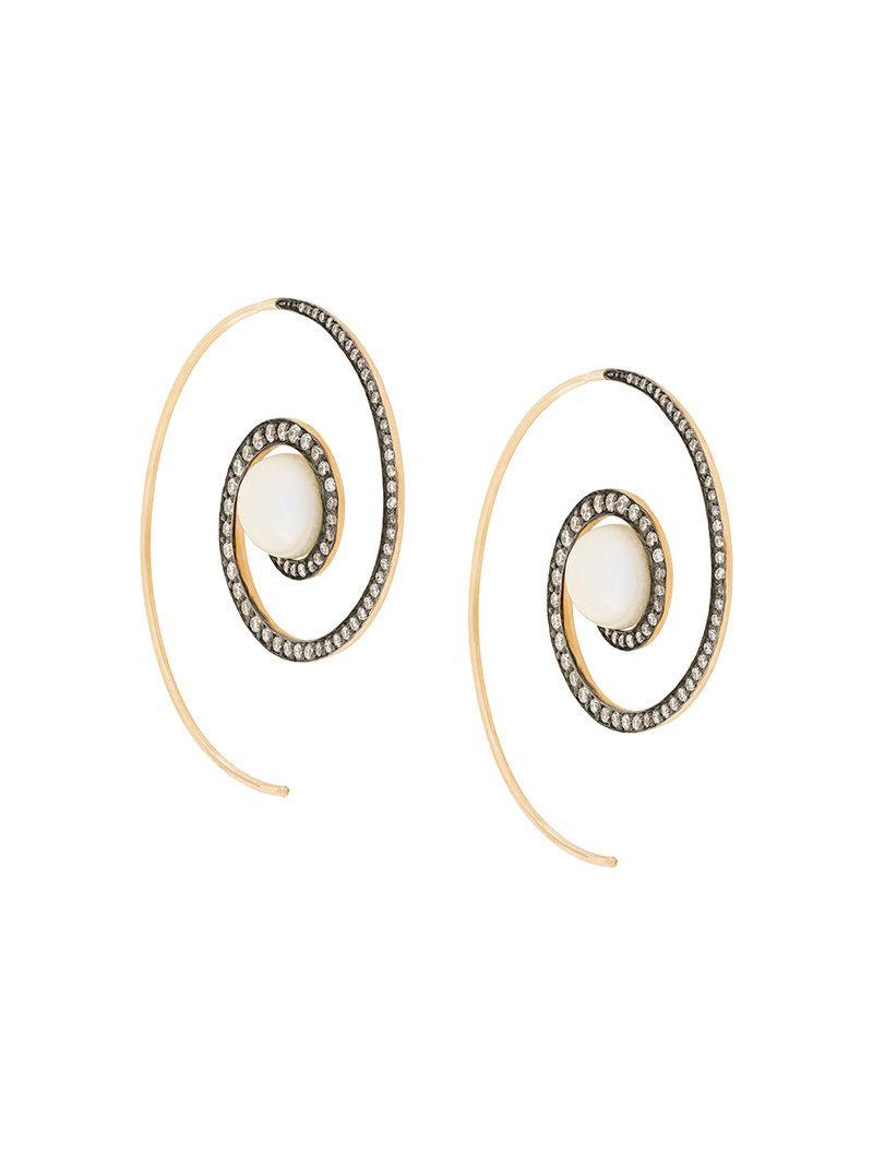 Boucles D'oreilles Spirales Arc-en-lune Noor Tarifs nBL8wTCK2k