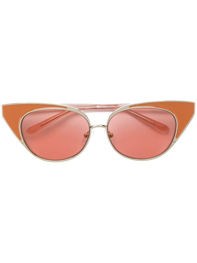 18b13de0eda N°21 X Linda Farrow Cat-eye Sunglasses in Pink - Save ...