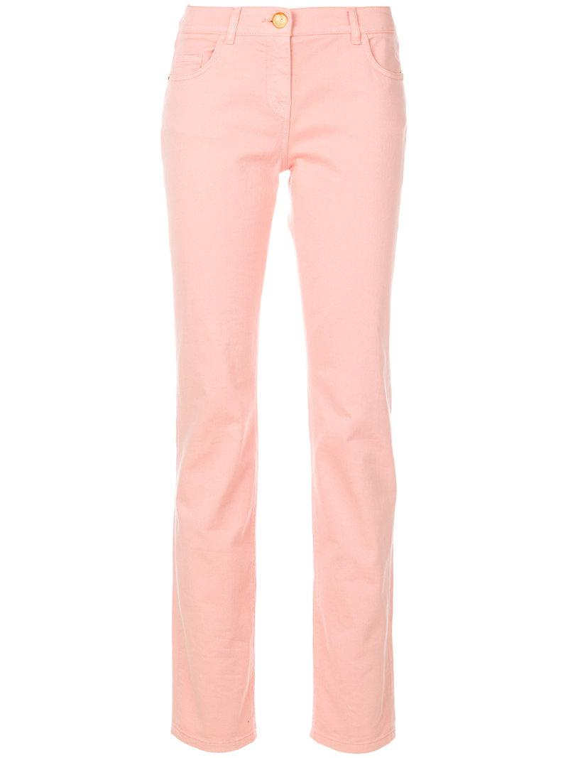 straight-leg trousers - Nude & Neutrals Cavalli Buy Cheap Visa Payment Best Selling For Nice Sale Online 4ibCd9fII