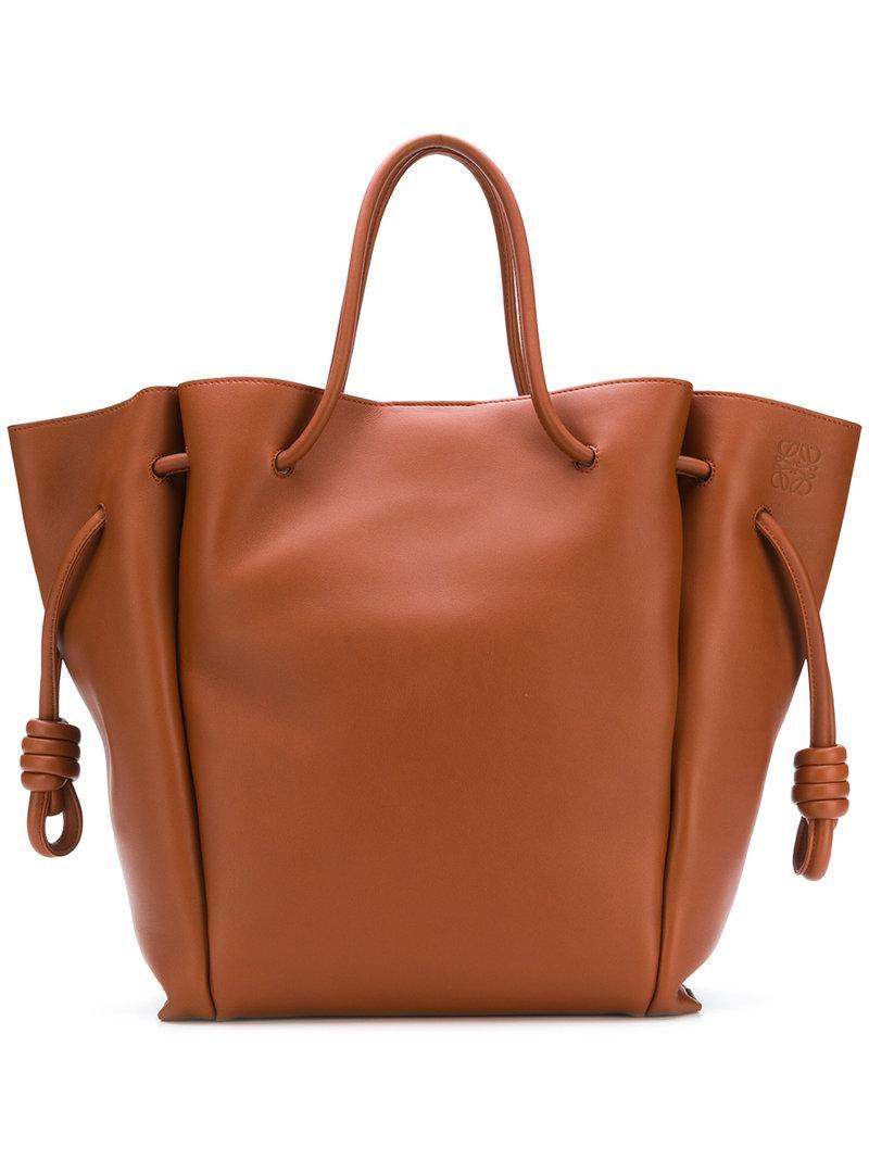7f073e09c442 Lyst - Loewe Flamenco Knot Tote Bag in Brown