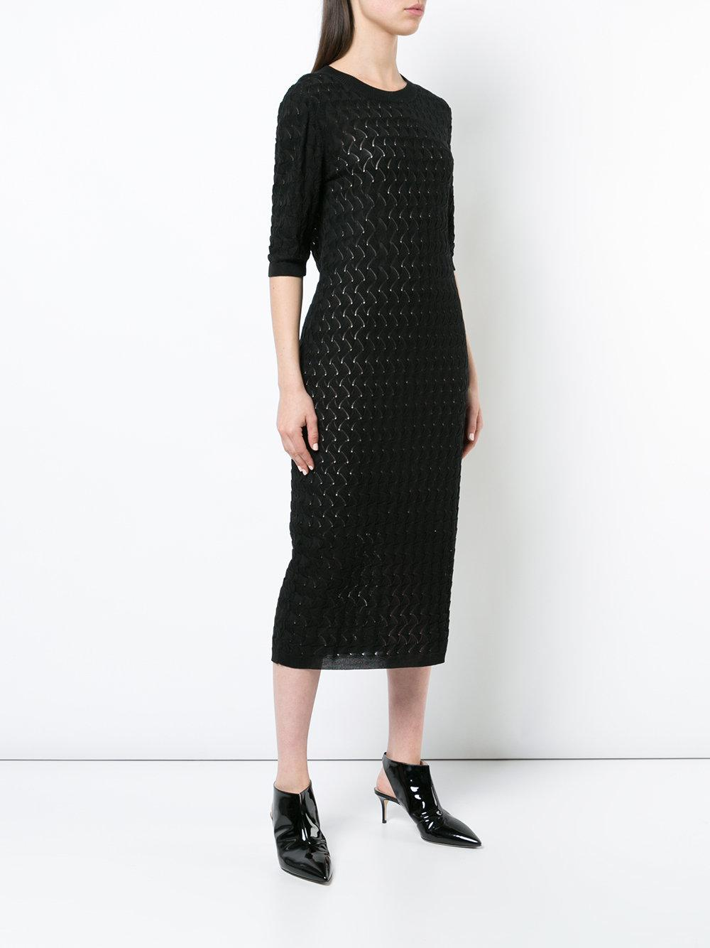 Buy Cheap 2018 Unisex perforated knit dress - Black Nellie Partow Buy Cheap Outlet Store Online Cheap Super Specials JDSlkd