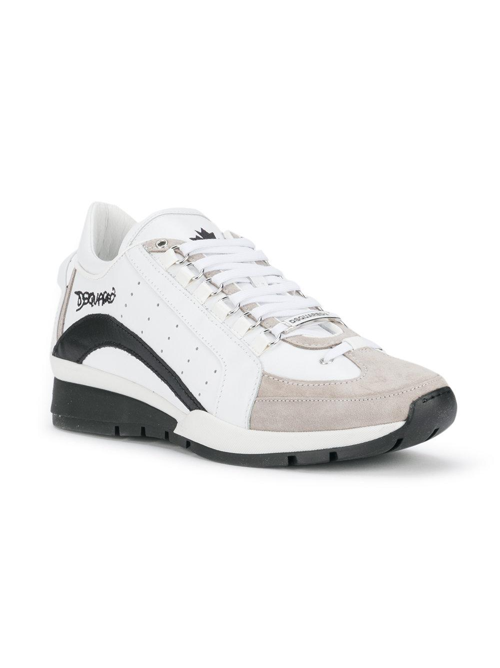 703ecbd274afc Lyst - DSquared² 551 Sneakers in White for Men