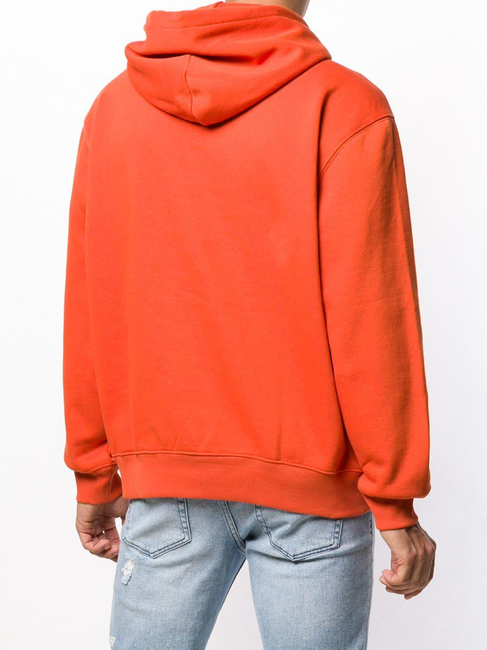 e6899bb3 Carhartt Embroidered Logo Hoodie in Orange for Men - Lyst