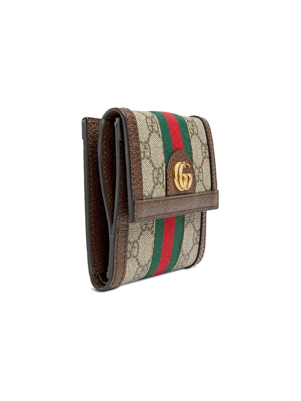 577af27c54404 Gucci  Ophidia  Portemonnaie in Braun - Lyst