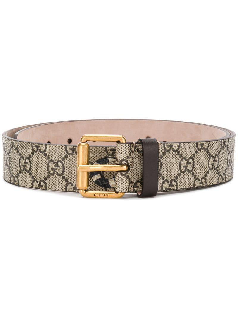 bb0da5cc25c Gucci Gg Supreme Belt With Kingsnake Print for Men - Lyst