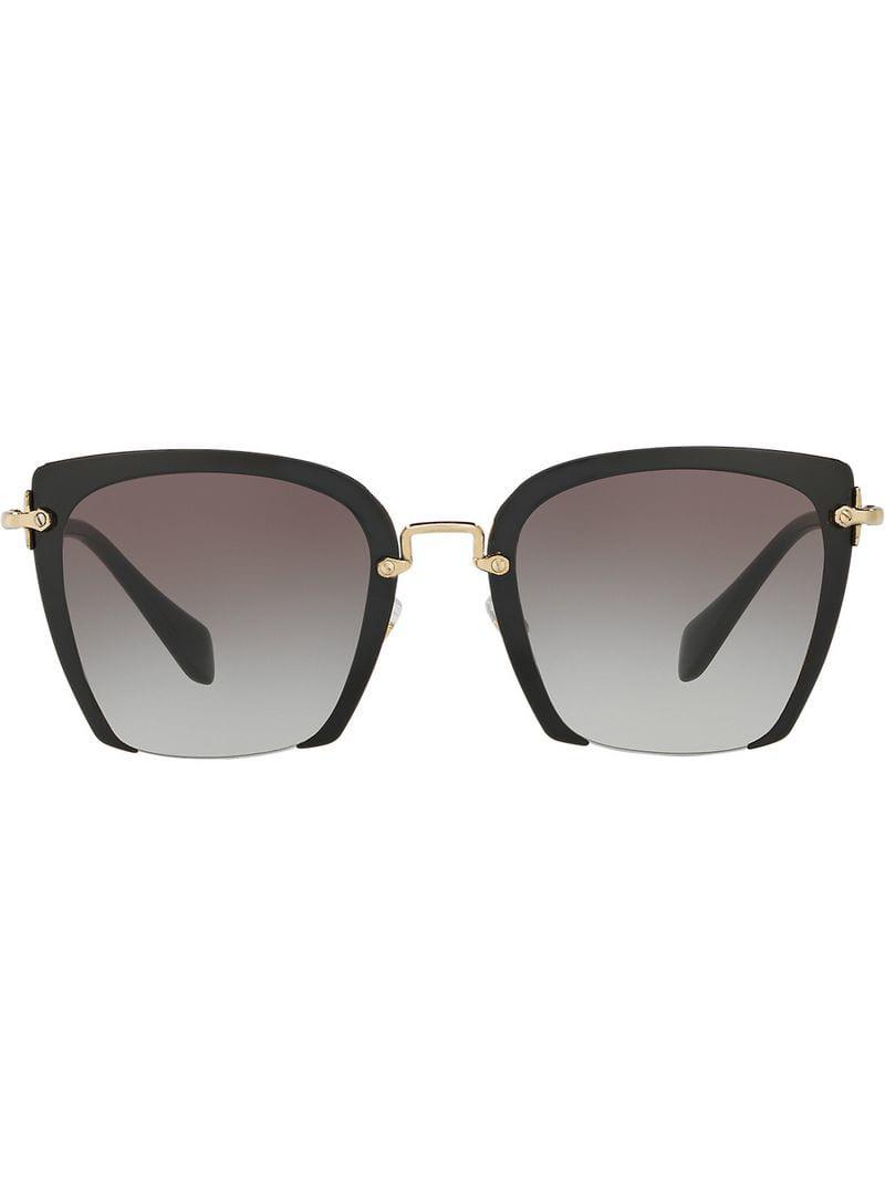 b409b951b45 Miu Miu Rasoir Sunglasses in Black - Lyst