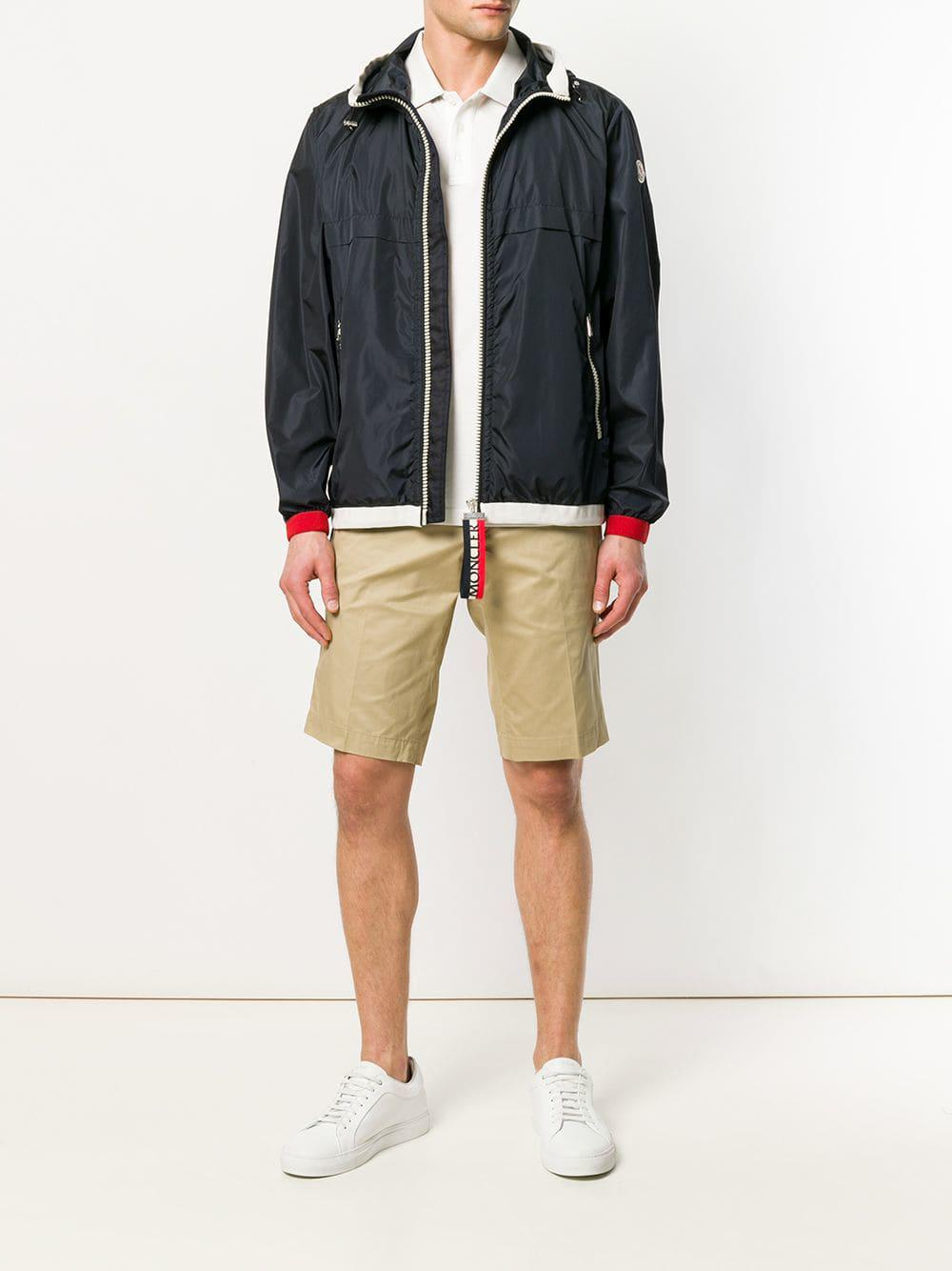 ca68024e1ffd Moncler Tailored Bermuda Shorts in Natural for Men - Lyst