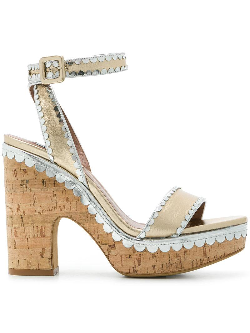 frilly Harlow sandals - Metallic Tabitha Simmons qcfp8NP