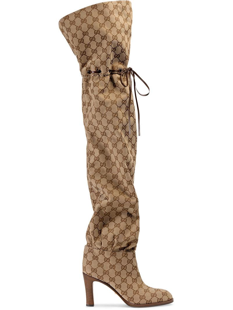 GucciLisa Original GG Canvas Over-The-Knee Boots xUwBVDtdfK