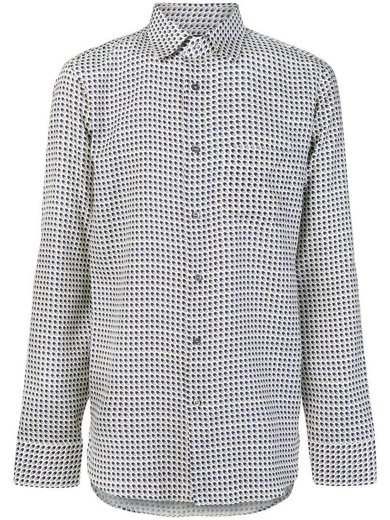 30dd649285f Lyst - Gucci GG Print Shirt in White for Men