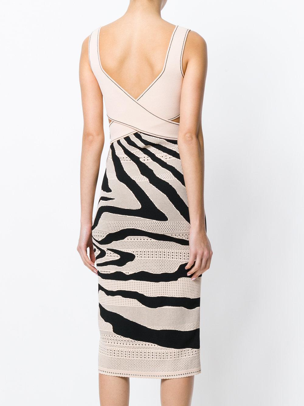 zebra cut-out dress - Pink & Purple Roberto Cavalli OlnK2fWT