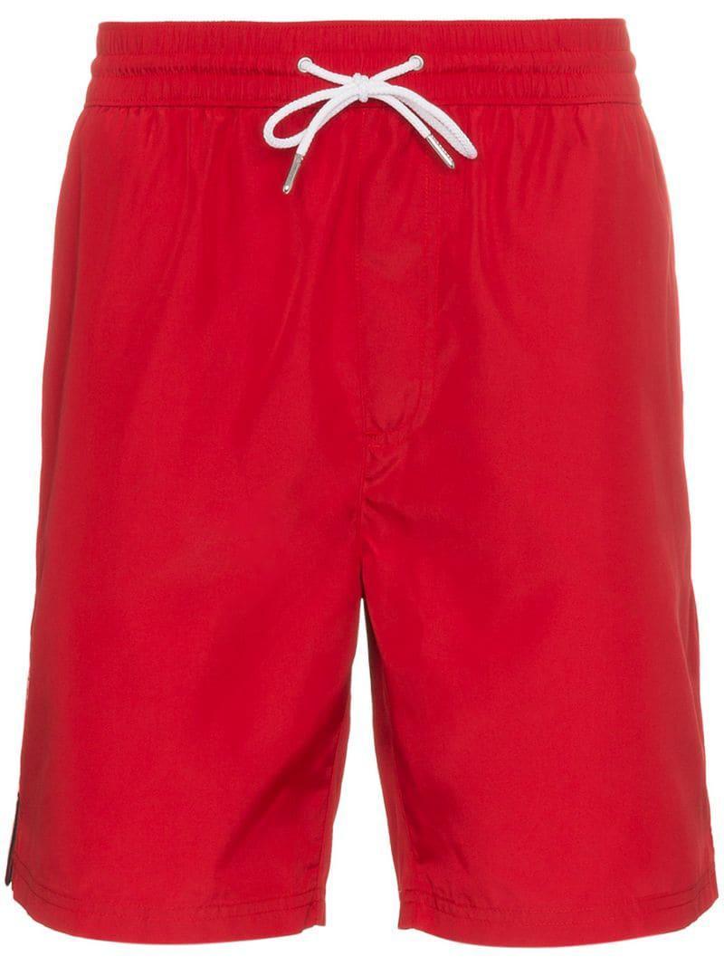 Lyst - Short de bain à bandes logo sur les côtés Burberry pour homme ... 81d76821f78