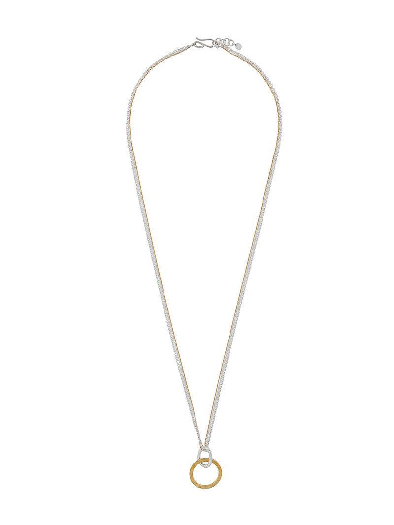 Enfold geometric necklace - Grey NFeBxcb